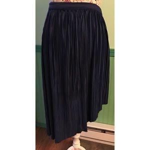 Reversible Asymmetrical Satin Look/Feel Skirt M